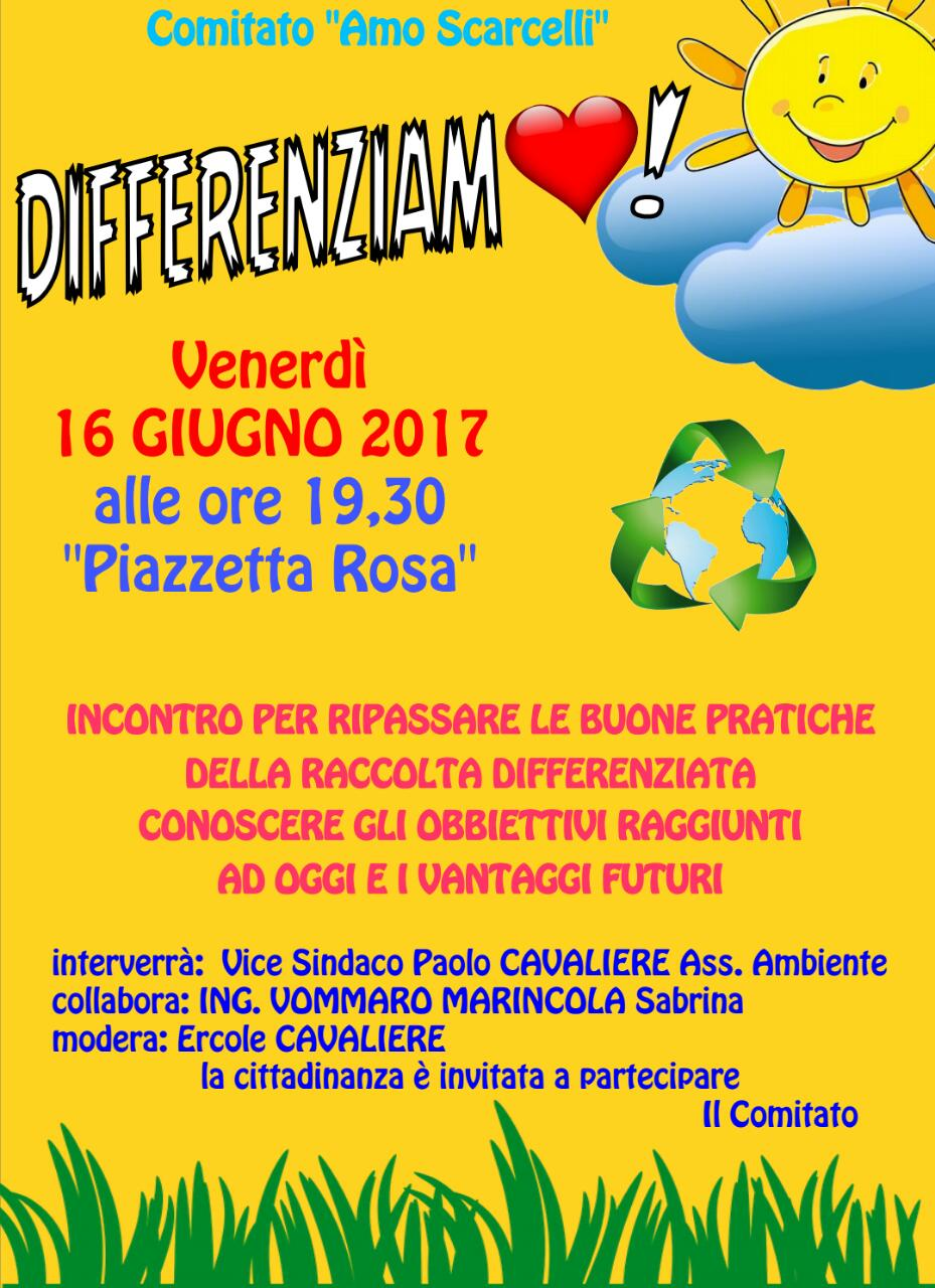 incontro differenziata scarcelli
